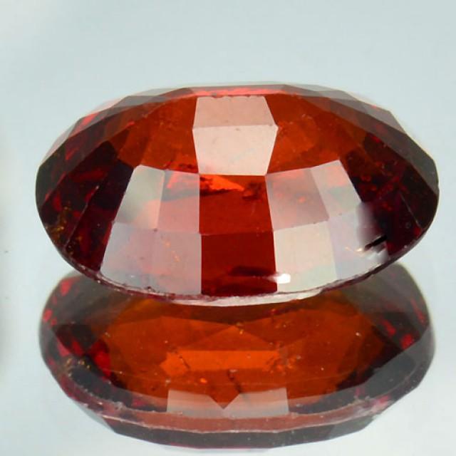 5.27 Cts Untreated Natural Cinnamon Red Hessonite Garnet Cushion 1$ NR