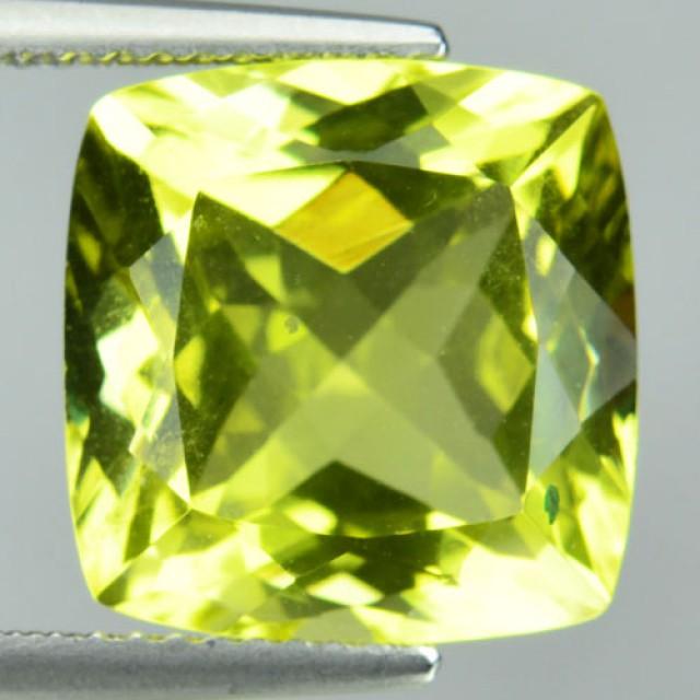 8.28 Cts Natural Lemon Yellow Quartz Brazil Gemstone - GEMEX
