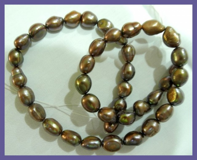 item big pearls nucleated baroque strand natural inches loose white large