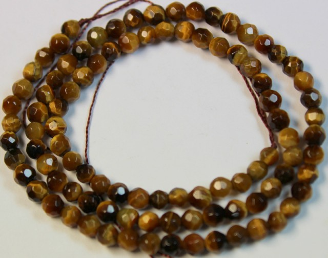 45.1 CTS NATURAL STRANDS TIGER EYE POLISHED BEADS P955