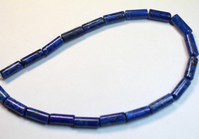 182 CTS ONE NATURAL STRAND OF LAPIS POLISHED BEADS P970
