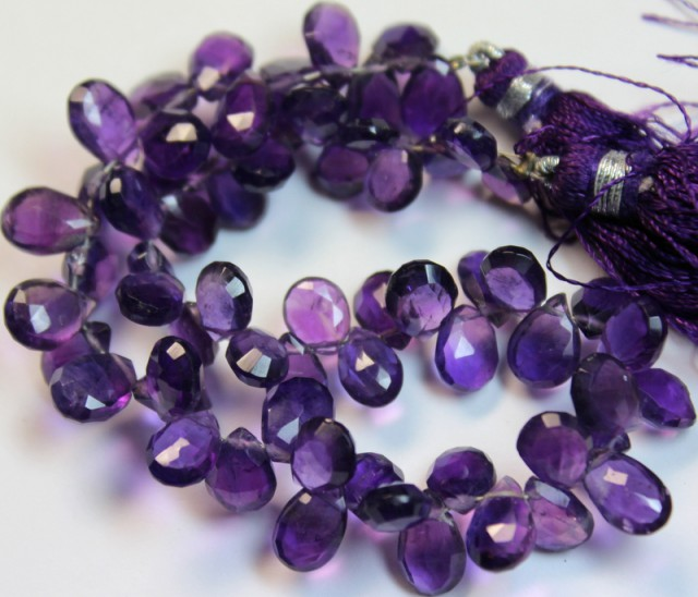 105 CTS ONE NATURAL STRAND OF AMETHYST POLISHED BEADS P976