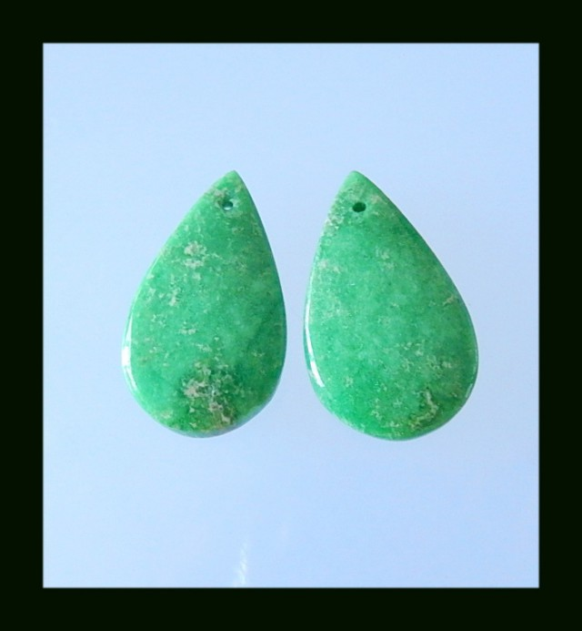 Natural Turquoise Earring Bead, 28x17x6 MM