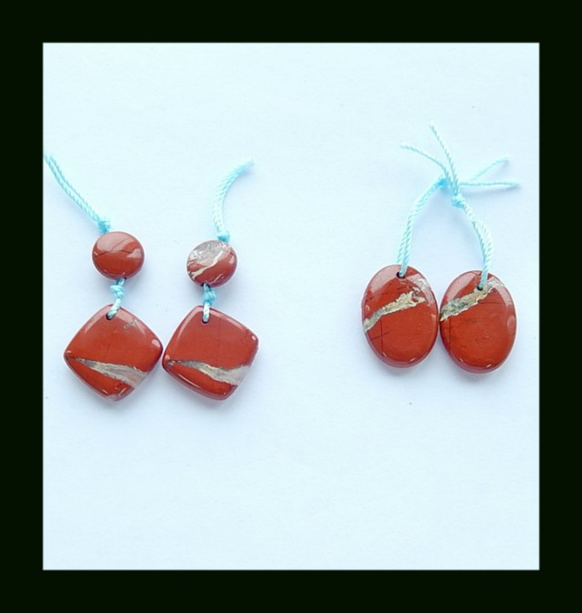 41.35 Cts Specialoffer Red River Jasper earring Bead Set(B1804403)