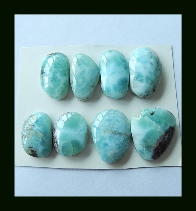 120 Ct Natural Dominican Larimar Cabochons