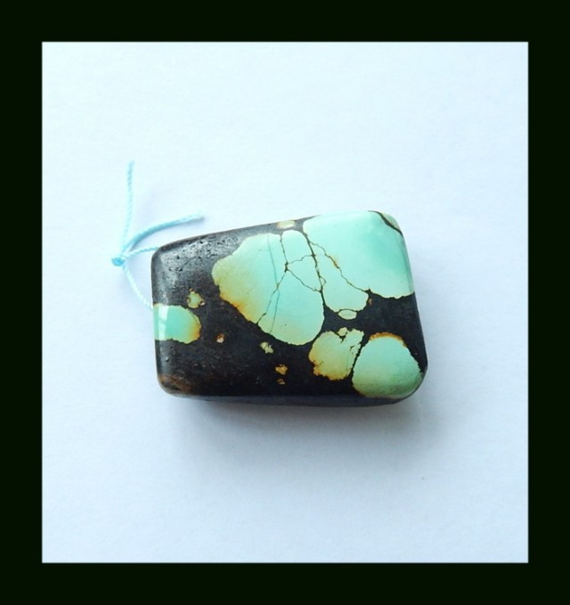 161.4 Cts Natural Turquoise Pendant Bead