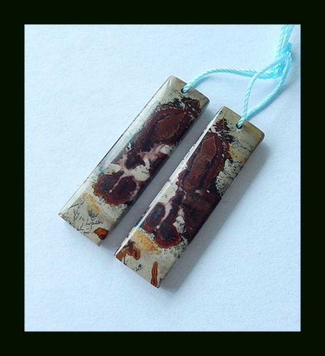 Chohua Jasper Earring Bead,38x11x4 MM