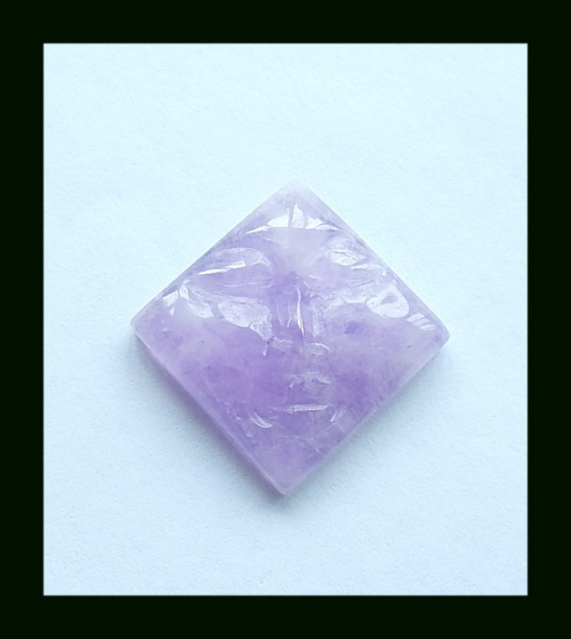 35.5 Cts Face Carving Amethyst Cabochon