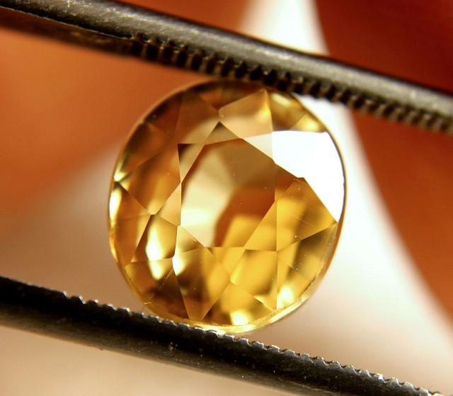 5.67 Carat Golden Yellow VVS1 Zircon - Gorgeous