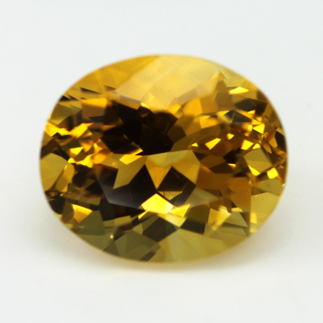 5.82cts Golden Yellow Citrine Oval Shape