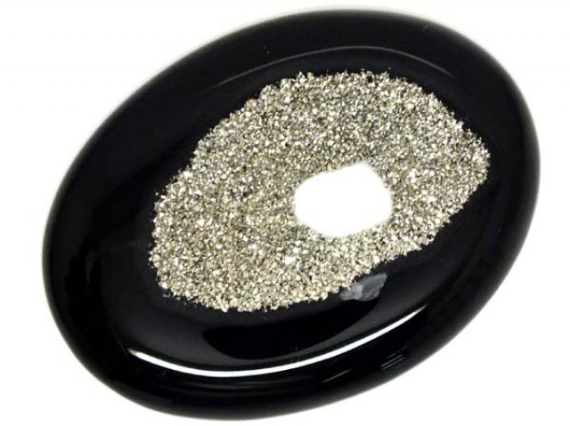 98 CTS  NATURAL DRUSY PLATINUM COATED  NP-1578