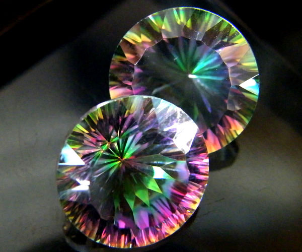 MYSTIC QUARTZ  ''TWILIGHT PAIR'' VS  15.15CTS  [S2639]