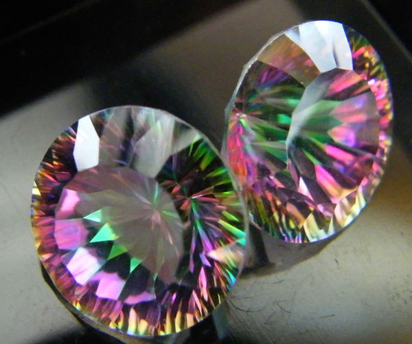 MYSTIC QUARTZ  ''TWILIGHT PAIR'' VS  15.05CTS  [S2642]