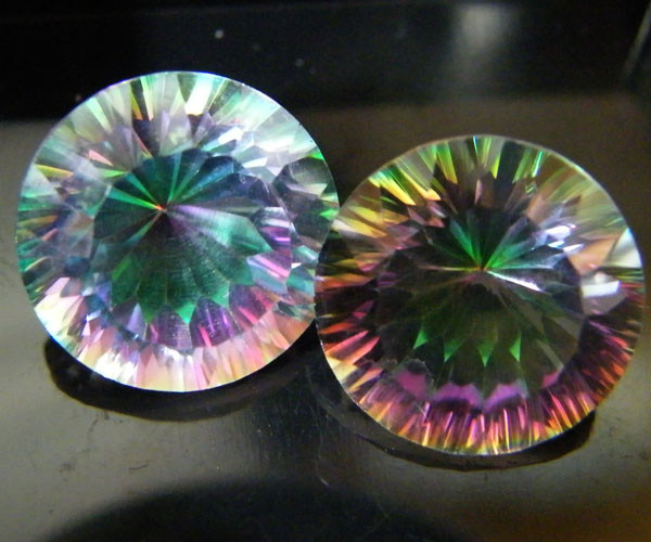 MYSTIC QUARTZ  ''TWILIGHT PAIR'' VS  14.85CTS  [S2649]