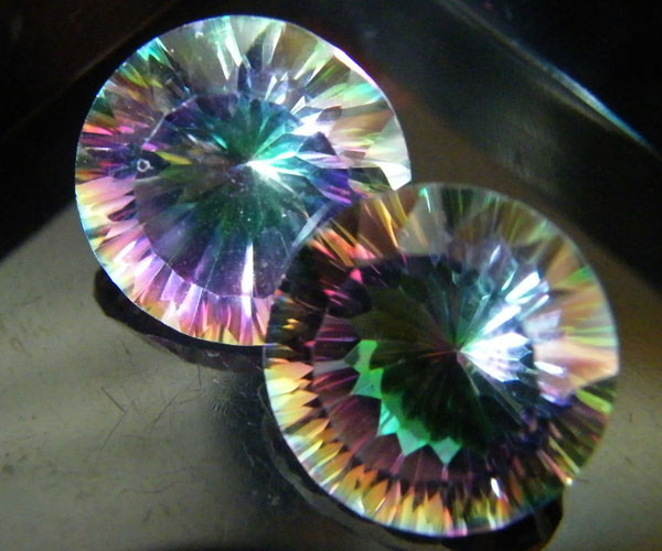 MYSTIC QUARTZ  ''TWILIGHT PAIR'' VS  15.00CTS  [S2651]