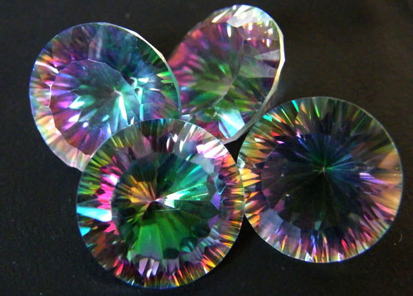MYSTIC QUARTZ  ''FOUR TWILIGHT'' VS  28.35CTS  [S2662]