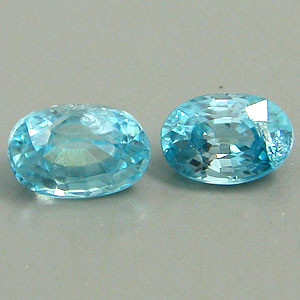 1.65 CTW BLUE ZIRCONS, A PAIR OF TWO GORGEOUS BLUE GEMS, NATURAL GEMS FROM THE EARTH!