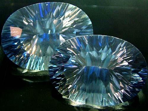 MYSTIC QUARTZ  '' BLUE LAGOON''  PAIR VS 23.5 CTS  [S2793]