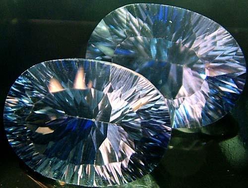MYSTIC QUARTZ  '' BLUE LAGOON''  PAIR VS 24.5 CTS  [S2799]