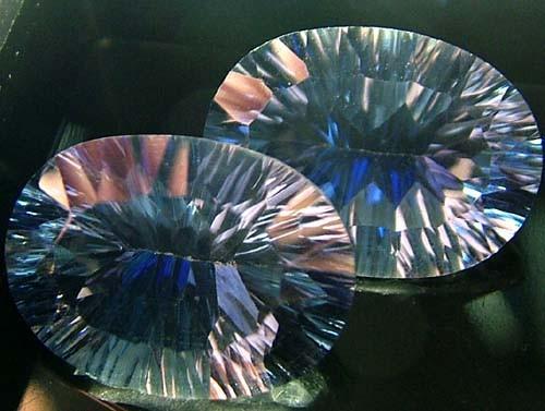 MYSTIC QUARTZ  '' BLUE LAGOON''  PAIR VS 22.1 CTS  [S2802]