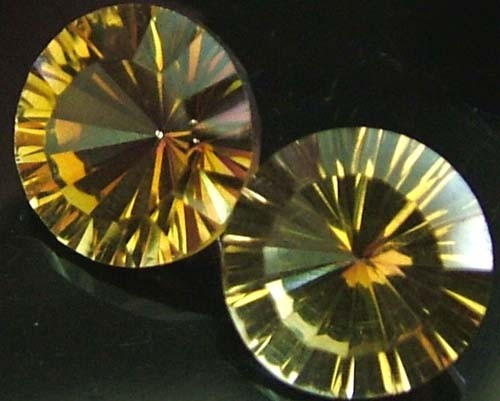 "MYSTIC QUARTZ ''GOLDEN SUNRISE"" PAIR VS 4.7 CTS [S2826]"