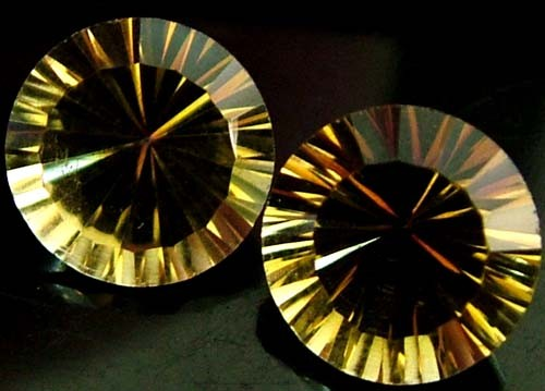 "MYSTIC QUARTZ ''GOLDEN SUNRISE"" PAIR VS 3.9 CTS [S2829]"
