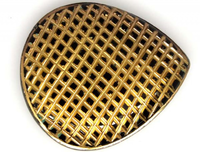 49 CTS BLACK ONYX 24K GOLD ENGRAVED  LG-945