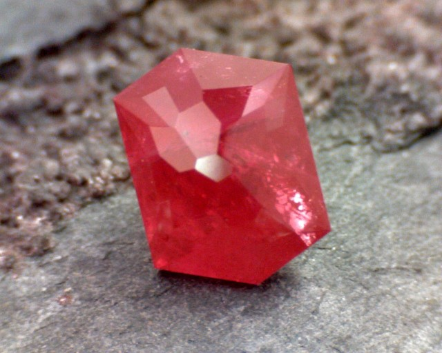 1.44ct Precision Cut Pigeon Blood Red Ruby Heated Certified