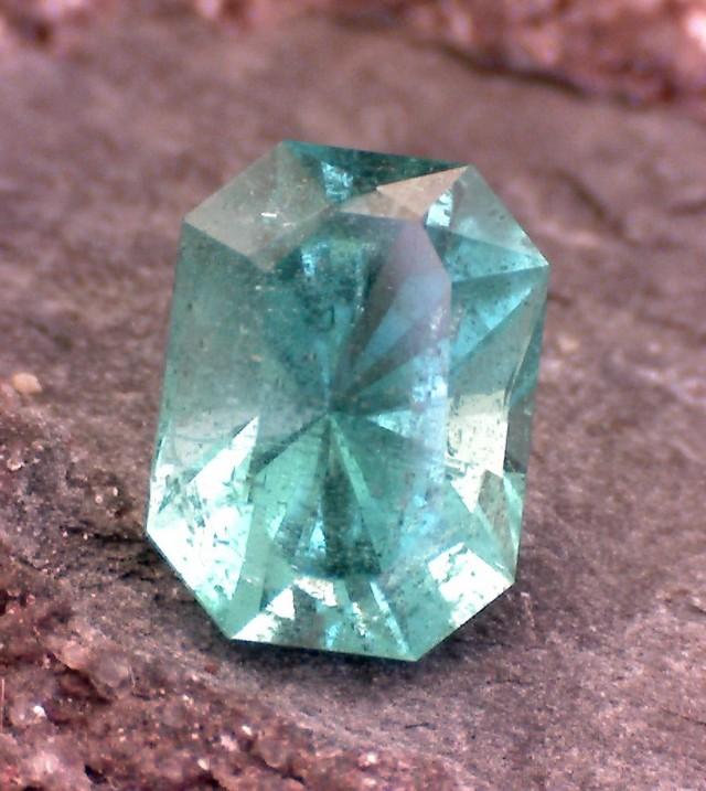 0.70ct Precision Cut Untreated South American Emerald Certified