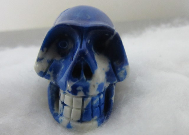 NATURAL SODALITE CARVED  SKULL AGR 1395