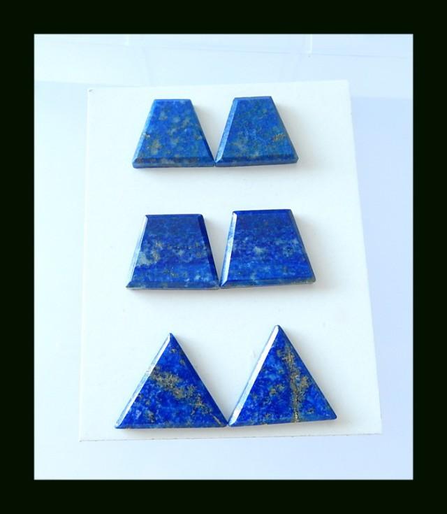 Natural Lapis Lazuli Cabochon Pairs,20x25x5 MM