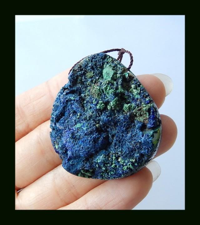 173 Cts Nugget Azurite Pendant Bead