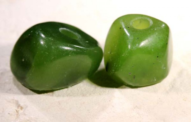 NATURAL SOLID JADE BEAD 16.75 CTS NP-1623