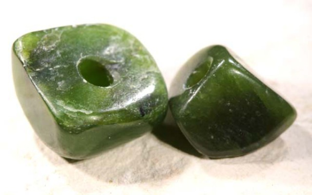 NATURAL SOLID JADE BEAD 16.3 CTS NP-1627