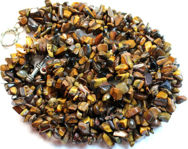 755.6 CTS  -  TIGER EYE NATURAL POLISHED BEAD WITH CLASP P1002