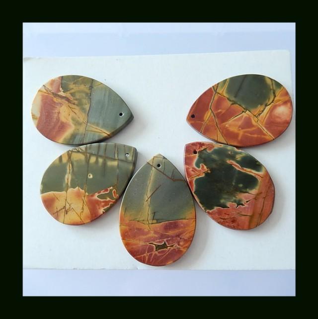 5PCS Multi Color Picasso Jasper Beads Parcel