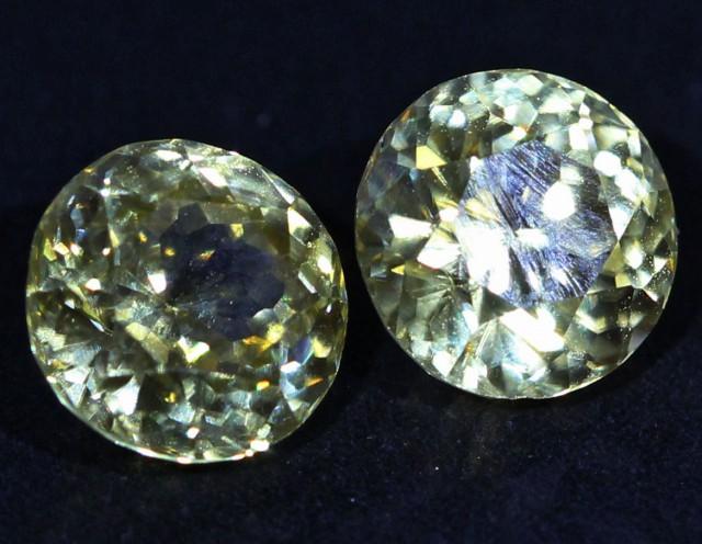 3.25 CTS ZIRCON PAIR FROM SRI LANKA -  TOP DIAMOND CUT [ST9586]