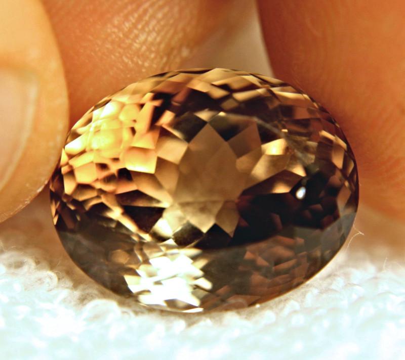 21.53 Carat VVS1 Brazil Golden Brown Topaz - Superb