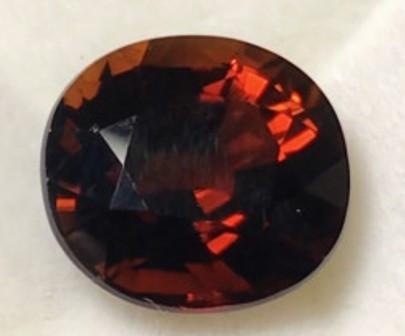 DO NOT BID - ON HOLD 6.80ct Dark Orangey RED Tourmaline - Mozambique - RI01