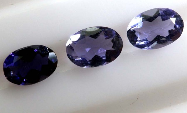 IOLITE NATURAL FACETED 1.10 CTS LG-1234