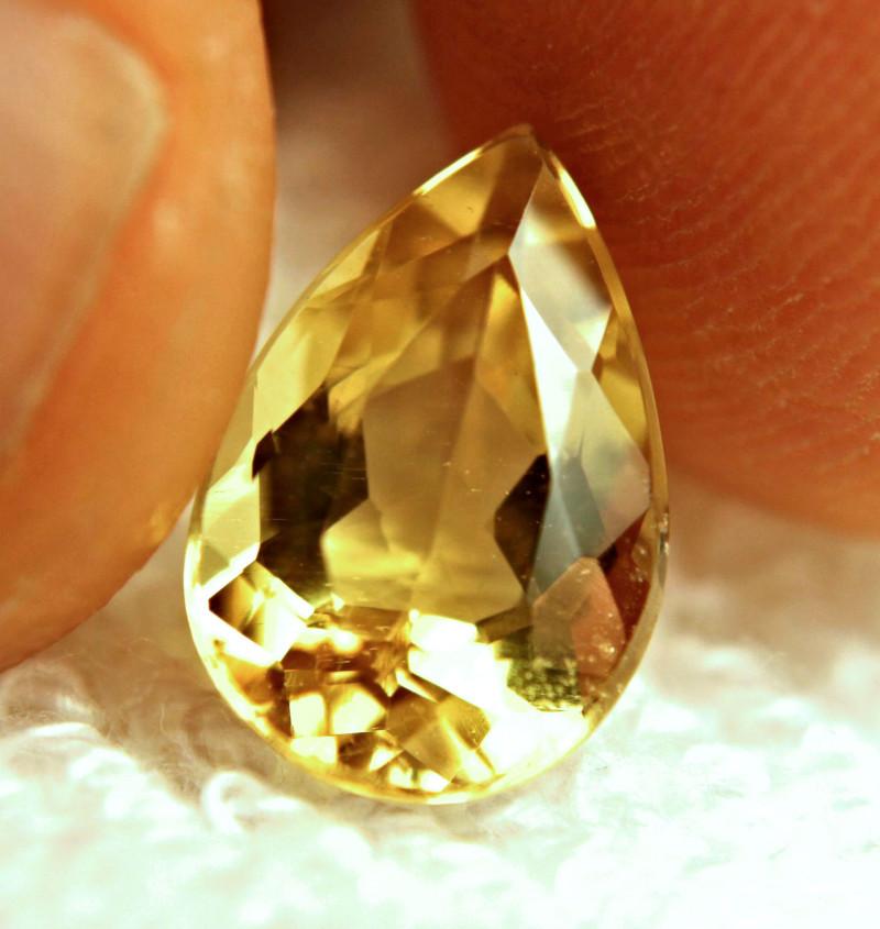 3.68 Carat Golden Yellow VS Beryl - Superb