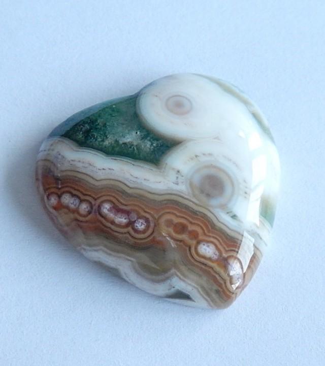 49.55 Cts Natural Ocean jasper Heart Gemstone Cabochon