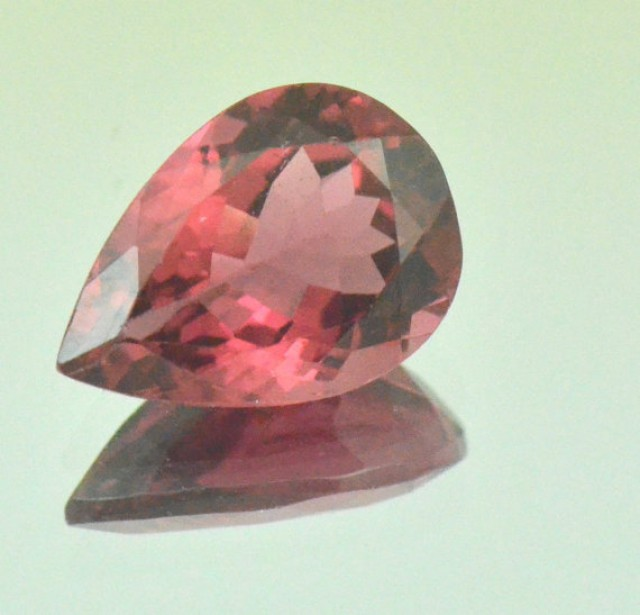 Red Pink Tourmaline drop shape
