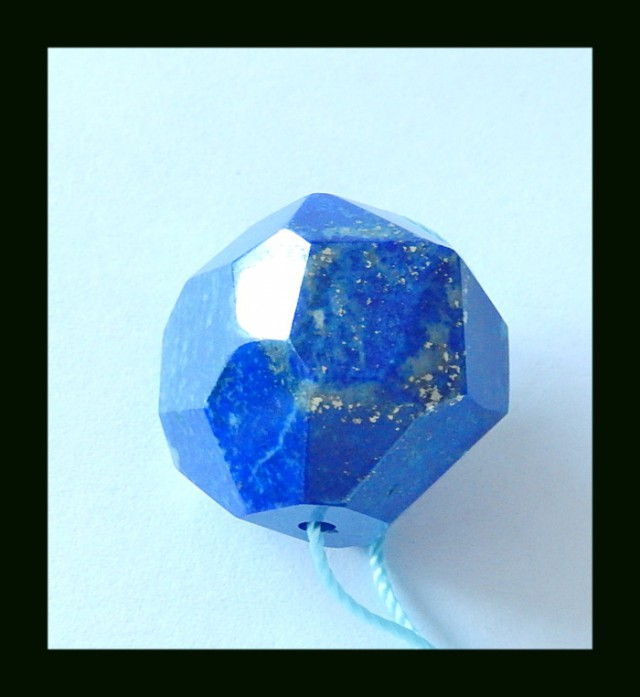 58 Cts Faceted Lapis Lazuli Bead