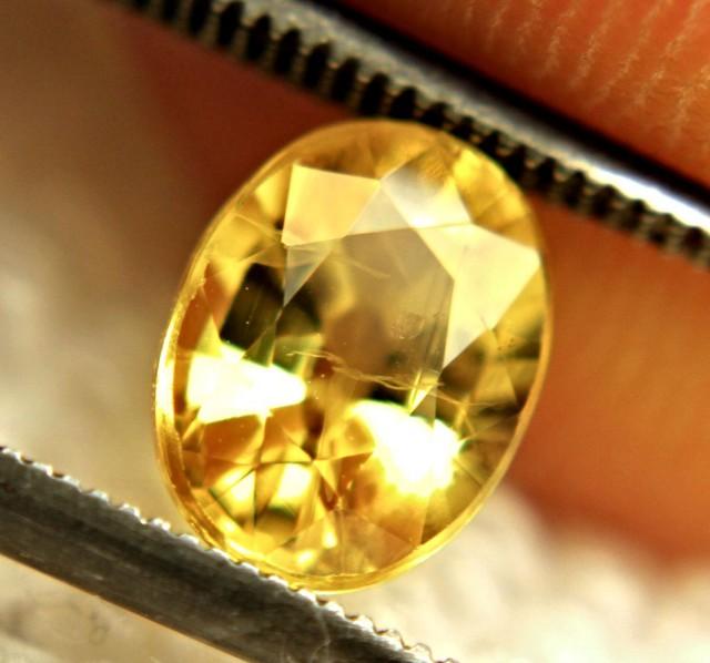 2.08 Carat Golden Yellow SI Sapphire
