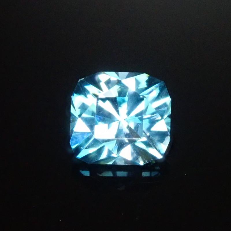 Custom Cut Blue Zircon 2.40ct