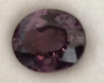 1.75ct Plum  Purple Oval Spinel  - Sri Lanka SL26b H668