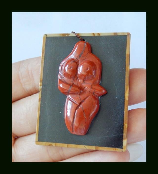 Art Carft ,Red River Jasper, Obsidian, Picasso Japser Inatrsia Body (D0062)