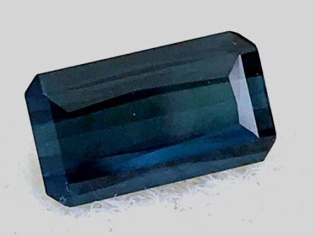 1.50ct Emerald Cut lndicolite Blue Tourmaline - Mozambique- EB1501