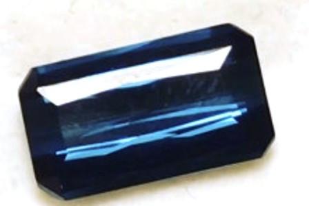 Emerald Cut lndicolite  Blue Tourmaline - Mozambique- EB1501 H652